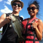 Bass Fishing Guide Trip Clients